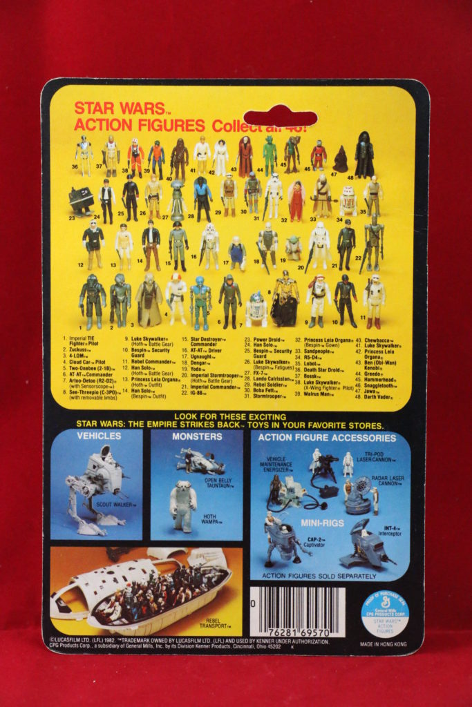 ESB Kenner Star Wars Boba Fett 48 Back A Back