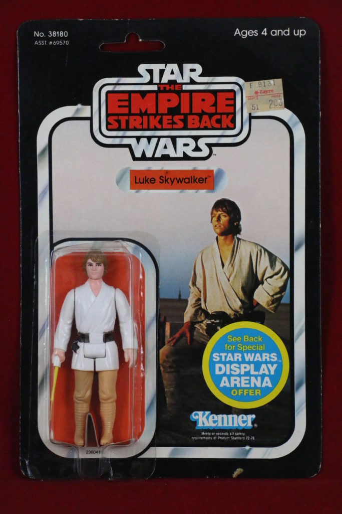 ESB Kenner Star Wars Luke Skywalker Brown Hair 45 Back A Front