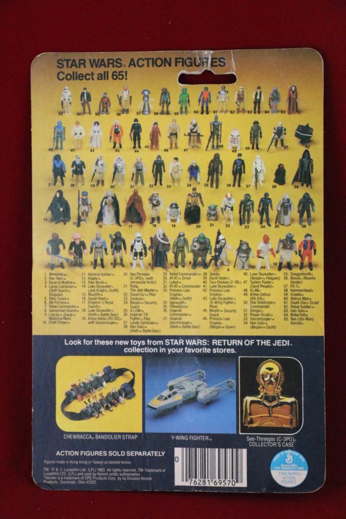 ROTJ Kenner Star Wars Boba Fett 65 Back A Back